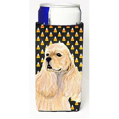 Cocker Spaniel Candy Corn Halloween Portrait Michelob Ultra s For Slim Cans 1...