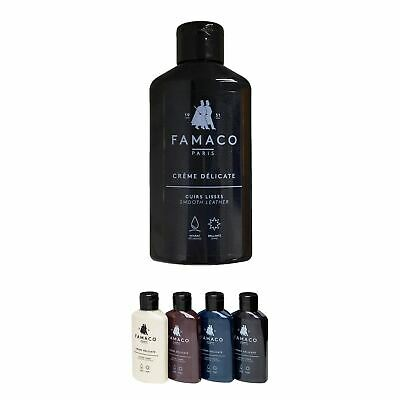 Famaco Black Creme Delicate Leather Cleaner, Softener & Nourisher 125ml