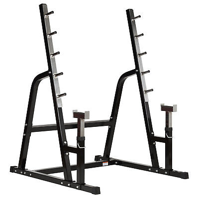 MIRAFIT HD Adjustable Weight Lifting Rack Gym Bench Press Barbell Squat Stand