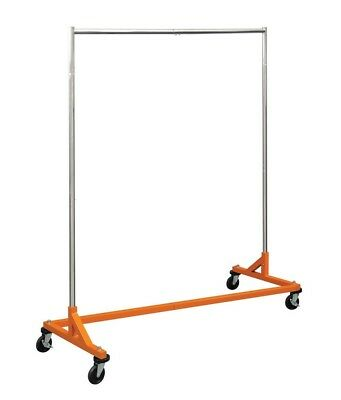 5 ft. Heavy Duty Commercial Single Bar Rolling Z Racks Clothing Garment Clothes