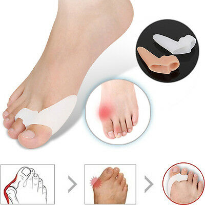 2 Pcs Gel Silicone Toe Bunion Pain Relief Straighteners Separators Alignment Pad