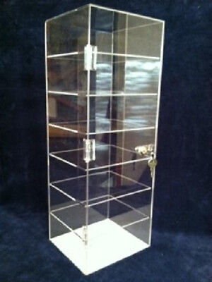 Locking Jewelry Display Case  8x7x22.5, Sunglasses, Knives,Collectibles