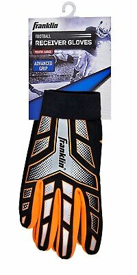 Franklin Sports Youth-Junior Receiver-Receiving Football Gloves-Large