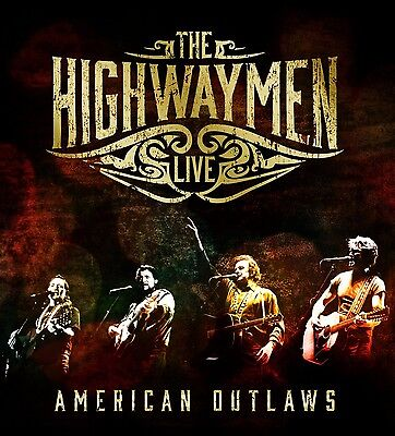 The Highwaymen - Live - American Outlaws 3-Cd+Blu-Ray New