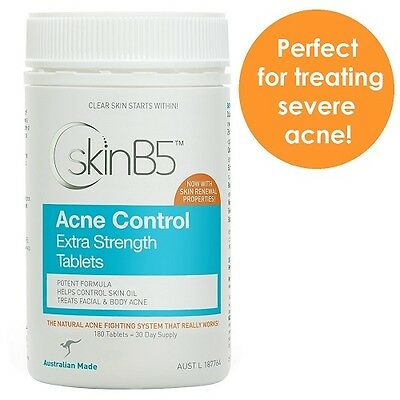 SKIN B5 Acne Treatment Control Extra Strength Tablets - 180 Tablets