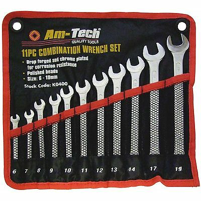 11 PC Piece Combination High Quality Spanner Set 6 7 8 9 10 11 12 13 14 17 19mm