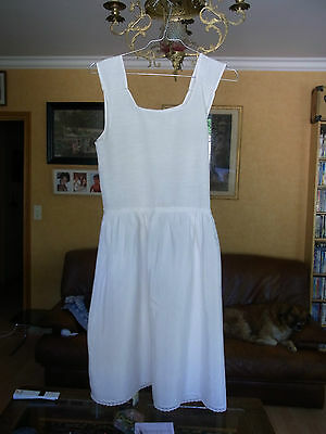 COMBINAISON SOUS ROBE Blanche FILLE T 12a VINTAGE 60  GIRL UNDERDRESS 12 yrs
