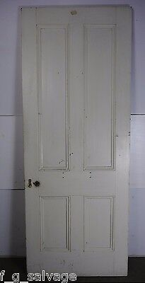 "Antique Vintage 4 Panel Interior Door 81"" X 31-3/4"" (E4) 1800's Local Pickup"