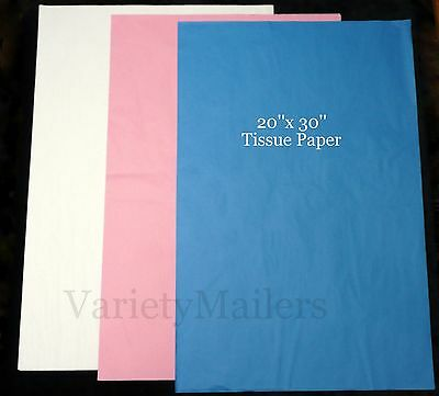 "30 SHEETS of PREMIUM GIFT GRADE TISSUE PAPER 20""x 30""  ~ 3 COLORS MATTE FINISH ~"