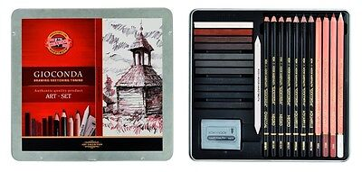 DRAWING Art Set For Artist Sketching Toning KOH-I-NOOR GIOCONDA 8899 8893