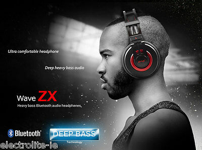 Psyc Wave ZX Wireless Bluetooth 4.0 Headphones + Mic for Hands Free Calls