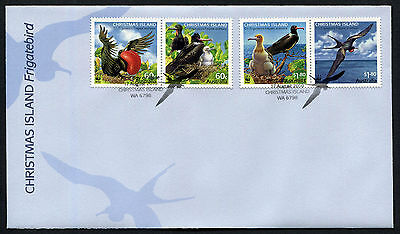 2010 Christmas Island Frigatebird WWF FDC First Day Cover Stamps Australia