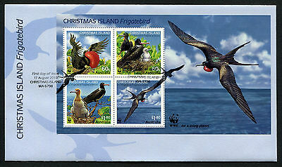 2010 Christmas Island Frigatebird Minisheet FDC First Day Cover Stamps Australia