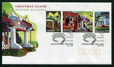 2006 Christmas Island Heritage Buildings FDC First Day Cover Stamps Australia