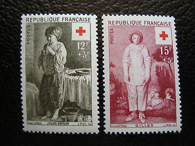 FRANCE - timbre yvert et tellier n° 1089 1090 n** (A20) stamp french