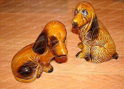 431981 - Handcrafted Vintage, MCS Pottery Dog's, Hounds (Made in Brazil)