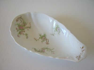 """Antique Pink Floral Syracuse O.P.CO. China Oval Serving Dish 8"""""""