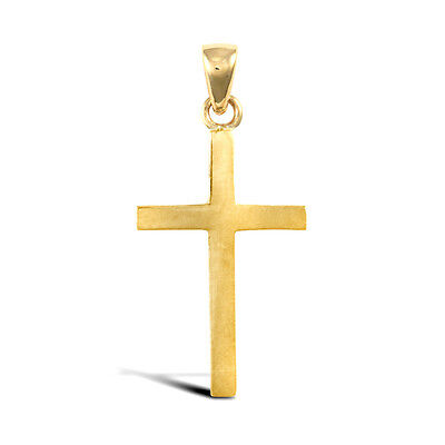 18ct Yellow Gold Stamped Cross Pendant