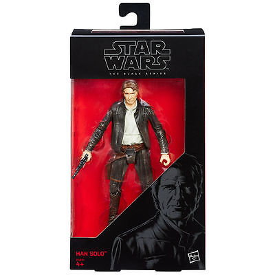Star Wars The Force Awakens Black Series 6 Inch Han Solo - New in hand
