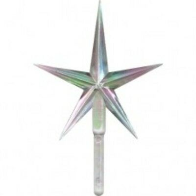 Iridescent Clear Small Aurora Star~Vintage Ceramic Christmas Tree Topper Rare