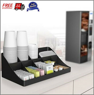 Coffee Pods Tea Cup Holder Organizer 11 Compartment Breakroom Lunchroom Office