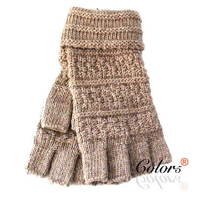 Color 5 New Women Ladies Winter Warm Knitted Fingerless  Gloves