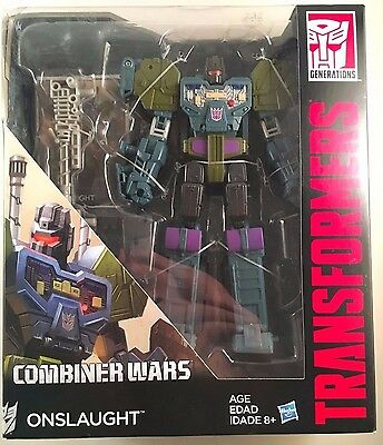 Transformers Onslaught Combiner Wars Generations Voyager Class Figure BOX DAMAGE