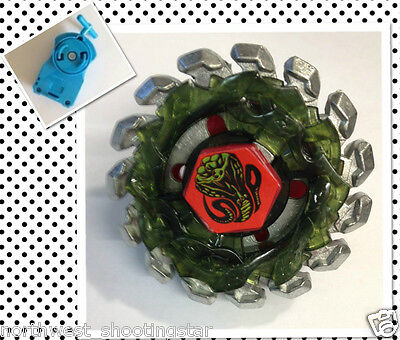 Metal Fusion Fight Master 4D Beyblade Poison Serpent BB69 w Single Spin Launcher