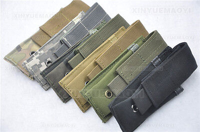 Tactical  MOLLE SGL Pistol Magazintasche Knife Pouch Ammo Clip Holster