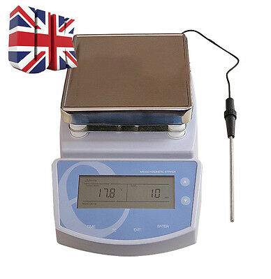 UK New MS300 Digital Hot Plate Magnetic Stirrer Heating Mixer max Temp 300℃ GOOD