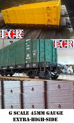 NEW G SCALE 45mm GAUGE EXTRA HIGH SIDE CARGO FREIGHT ROLLING TRUCK RAILWAY TRAIN