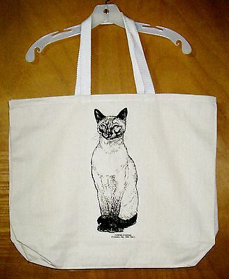 SIAMESE CAT  Coming&Going 100% Cotton Canvas XL Tote Bag