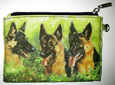 BORDER COLLIE Zippered Pouch by Maystead NEW full color both sides