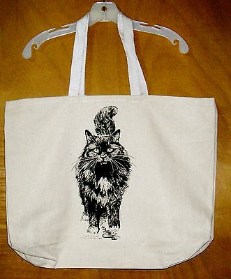 PERSIAN CAT  Coming&Going 100% Cotton Canvas XL Tote Bag