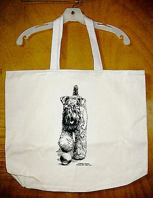 KERRY BLUE TERRIER  Coming&Going 100% Cotton Canvas XL Tote Bag