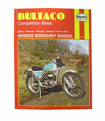 Haynes Manual No. 0219 Motorbike/Motorcycle for Bultaco Pursang 200 72-75