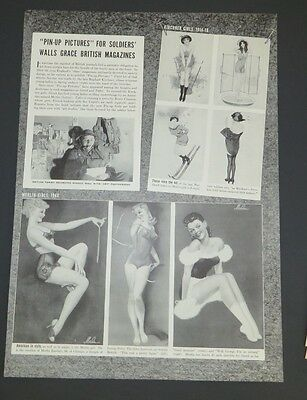 Original Clipping Life Magazine Pin-Up Pictures for Soldiers 1940 Magazine