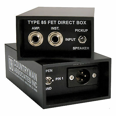 Countryman Type 85 Instrument Direct Box DI DT85 TYPE85 Free Shipping