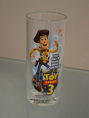 Toy Story 3 Sheriff Woody water juice glass Disney Pixar collectable