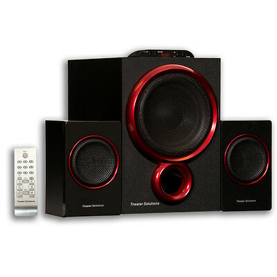 Theater Solutions TS212 Powered 2.1 Speaker System Home Multimedia Computer