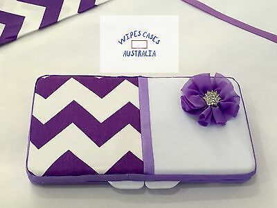 Chevron Baby Wipes Case (many Colours) - Perfect Gift For Baby Shower