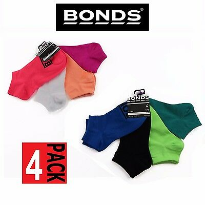4 PACK BONDS KIDS SOCKS Boys Girls Low Cut  Blue Green Pink White 2-12 years