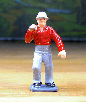 Railroad Metal Figure People Construction Worker O / S Scale Train Layout