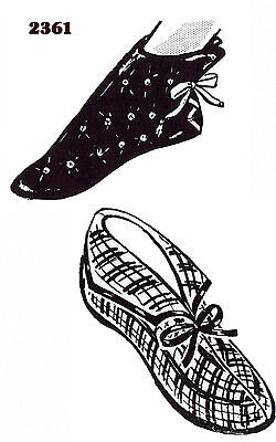 Felt Fabric SLIPPER Shoe Sewing Pattern Mail Order # 2361 Vintage Boot Slippers