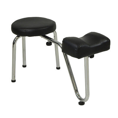 Black Salon Pedicure Stool With Footrest Chair Beauty Therapist Nail Treatement
