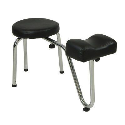 Black Salon Pedicure Stool With Footrest Chair