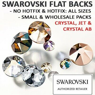 SWAROVSKI Flat Back Crystals: HOTFIX & NO HOTFIX Crystal & Crystal AB: ALL SIZES