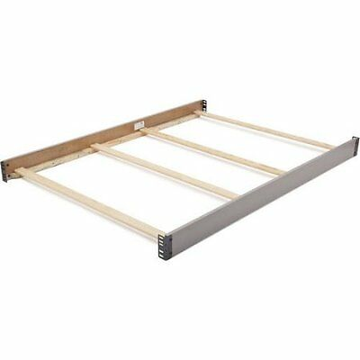 Delta Children Wooden Full-Size Bed Rails, Grey Free Shipping New
