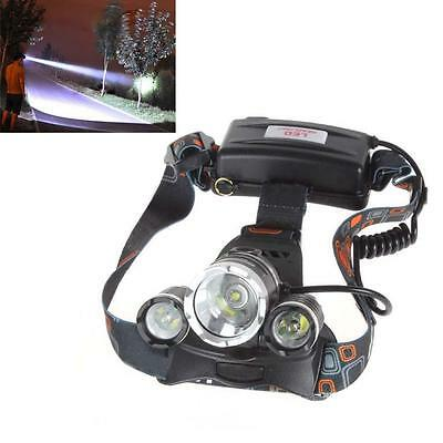 Power 20000Lm 3x CREE XM-L T6 LED Rechargeable Headlamp Headlight Head Torch TS