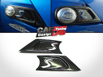 Carbon Side Marker Scuttles Overlay Cover For Mini Cooper R55 R56 R57 R58 R59